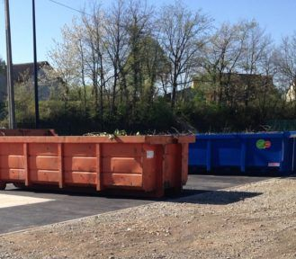 Point de dépôt à Monnaie pour déchets verts et cartons